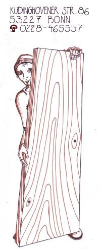Das Hölzchen - Logo der Schreinerei Hampel